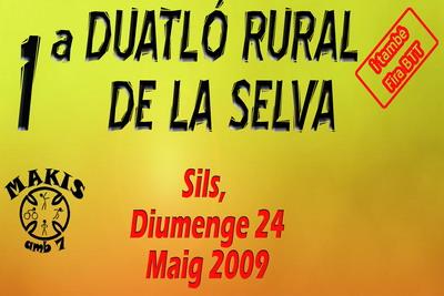 Diumenge 24 de maig'09 a Sils 1ª Duatló Rural.